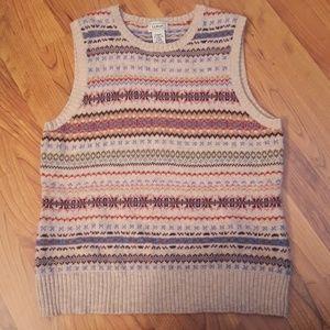 EUC L.L.Bean lambs' wool sweater vest